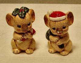 Kuala Bears - 2- 3in Chaulkware Christmas Figures - $2.96