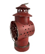 Vintage Decorative Lamp Red Made in Hong Kong- Rustic/Farm decoration - $18.80