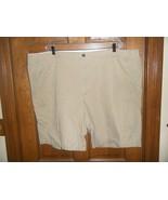 Dockers Khaki Diem Beige Flat Front Shorts - Size 50 - $23.75