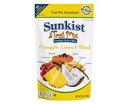 Sunkist Real Fruit Trail Mix - Pineapple Coconut Blend - 5 oz Resealable Bags -  - $45.00
