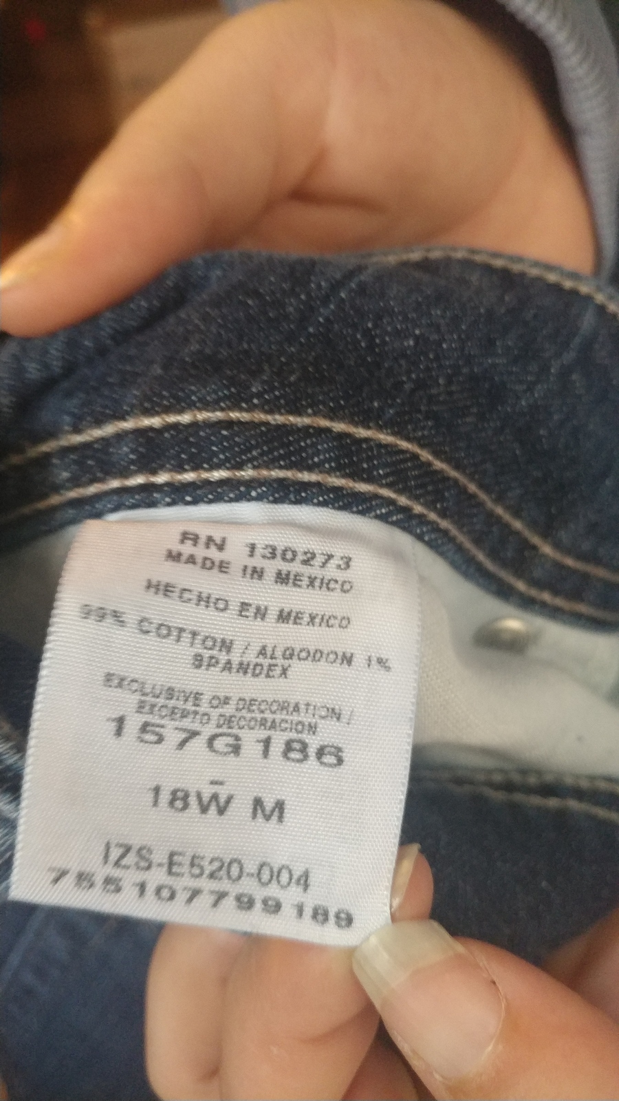 Womens Riders Lee 18w jeans sec792