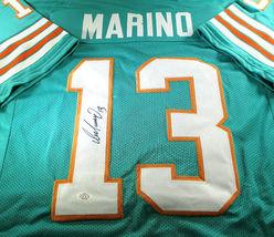 DAN MARINO / NFL HALL OF FAME / HAND SIGNED MIAMI DOLPHINS CUSTOM JERSEY / COA