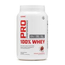 GNC Performance 100% WHEY Creamy Strawberry net. wt. 1.86 lbs. Exp. 07/2... - $34.97
