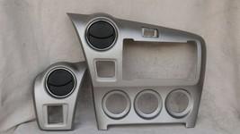 09-13 Toyota Matrix 09-10 Pontiac Vibe Radio Bezel Dash Trims Ac Ctrl Panel Vent