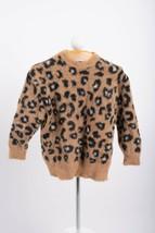 Zara Girls Leopard Sweater Sz 7 Yrs 122 cm Brown Animal Print Soft 5987/... - $34.64