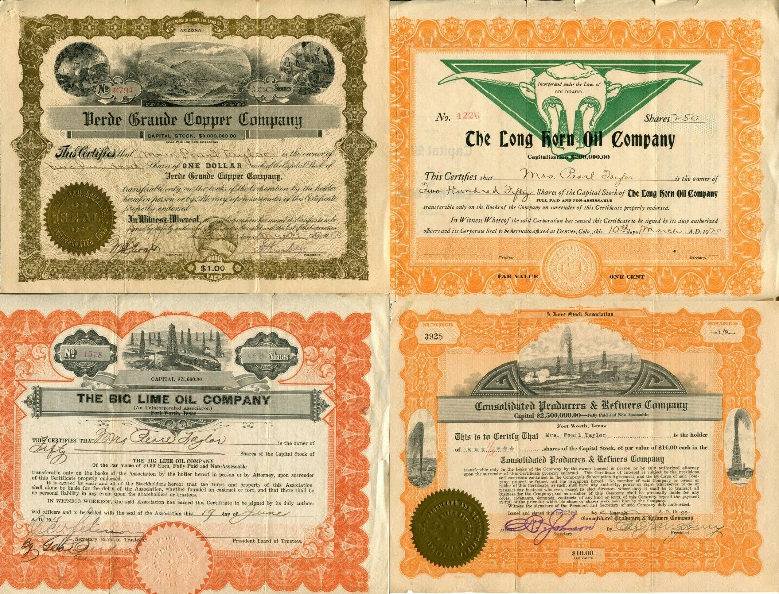 16 USA American Stock Share Certificate Oil Mining Pharmacy Company Collection  image 2