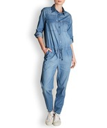 NWT REIKO LAUREEN LIGHT DENIM JUMPSUIT S - $123.49