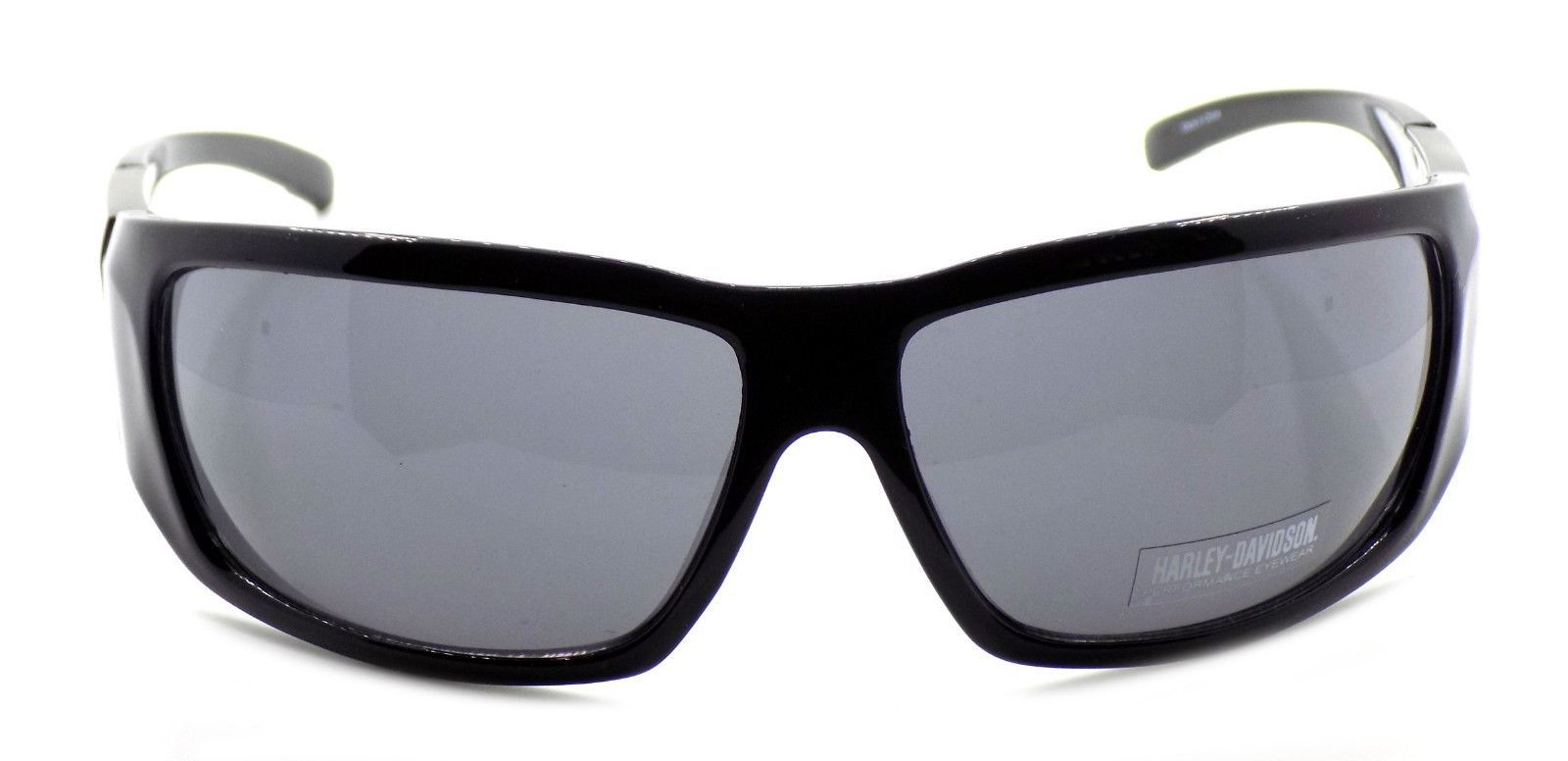 Harley Davidson HDX872 BLK Wraparound Sunglasses Black 67-14-130 Smoke + CASE