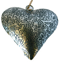 """Unique Handmade Etched Tin 4""""Heart-Valentine's Day - $8.90"""