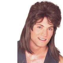 Wig - Mullet - Brown - Adult Mens Billy Ray Cyrus White Trash Redneck No... - $9.86