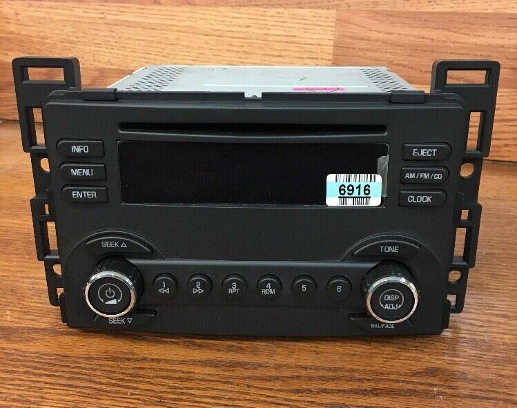 02 03 GMC Envoy CHEVY Trailblazer Bravada RDS Radio 6 Disc Changer CD Player OEM