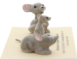 Hagen-Renaker Miniature Ceramic Mouse Figurine 3 Piece Family Set
