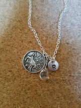 Birthstone April diamond Aries necklace charm b... - $26.00 - $28.00