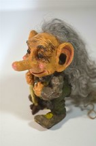 Old Man Vintage Troll w/ Real Hair & Tail! Original NORD Suvenir Verdal ... - $48.51