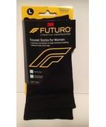FUTURO Compression Trouser Socks For Women -Large- Black  - $9.31