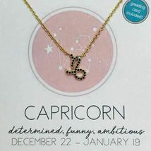 Dainty Jet Black CZ Zodiac Sign Necklaces image 7