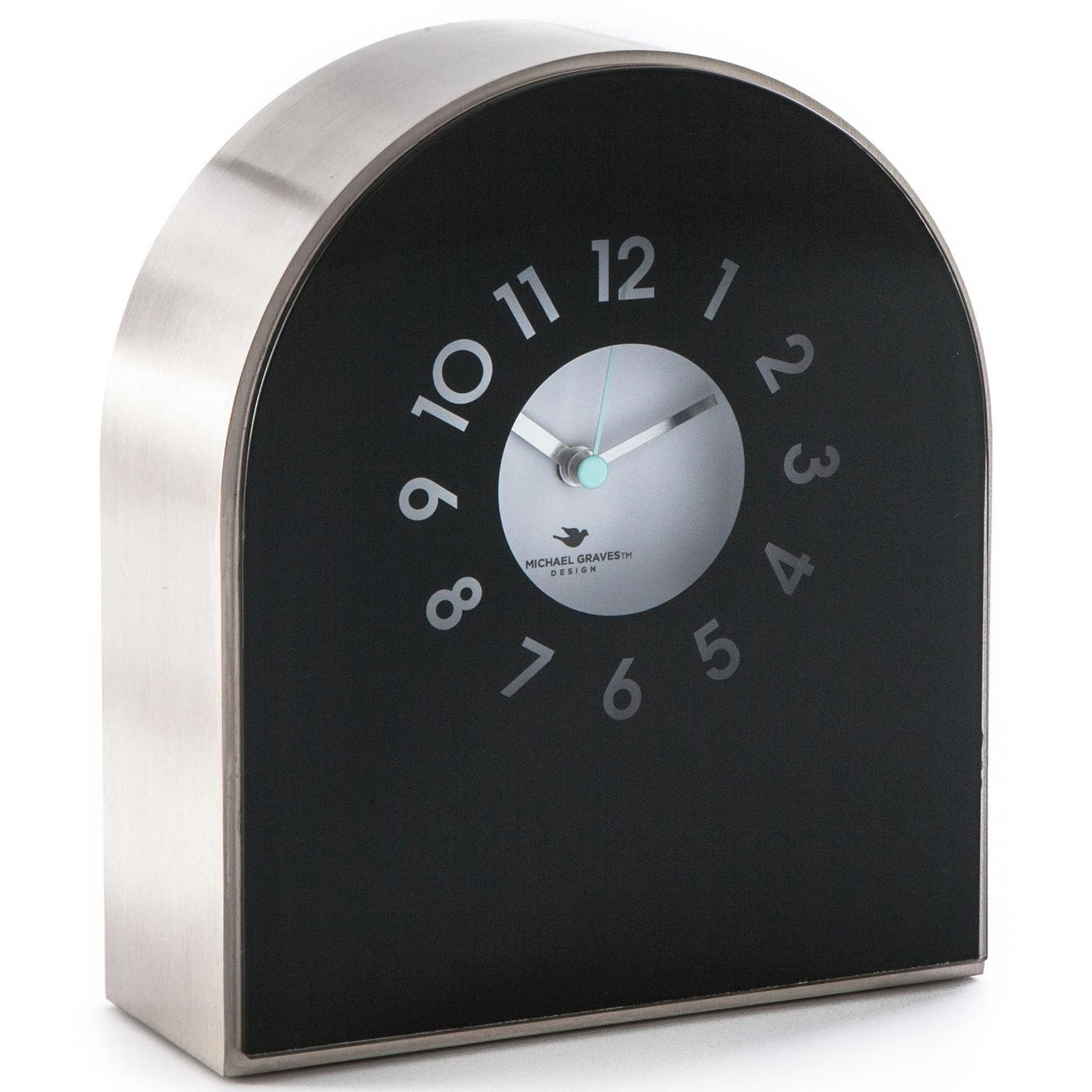 Michael Graves Design Black Glass Mantel Clock   $14.84