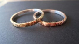 "7.5"" Milor Yellow and Rose Gold Stainless Bracelets - $23.76"