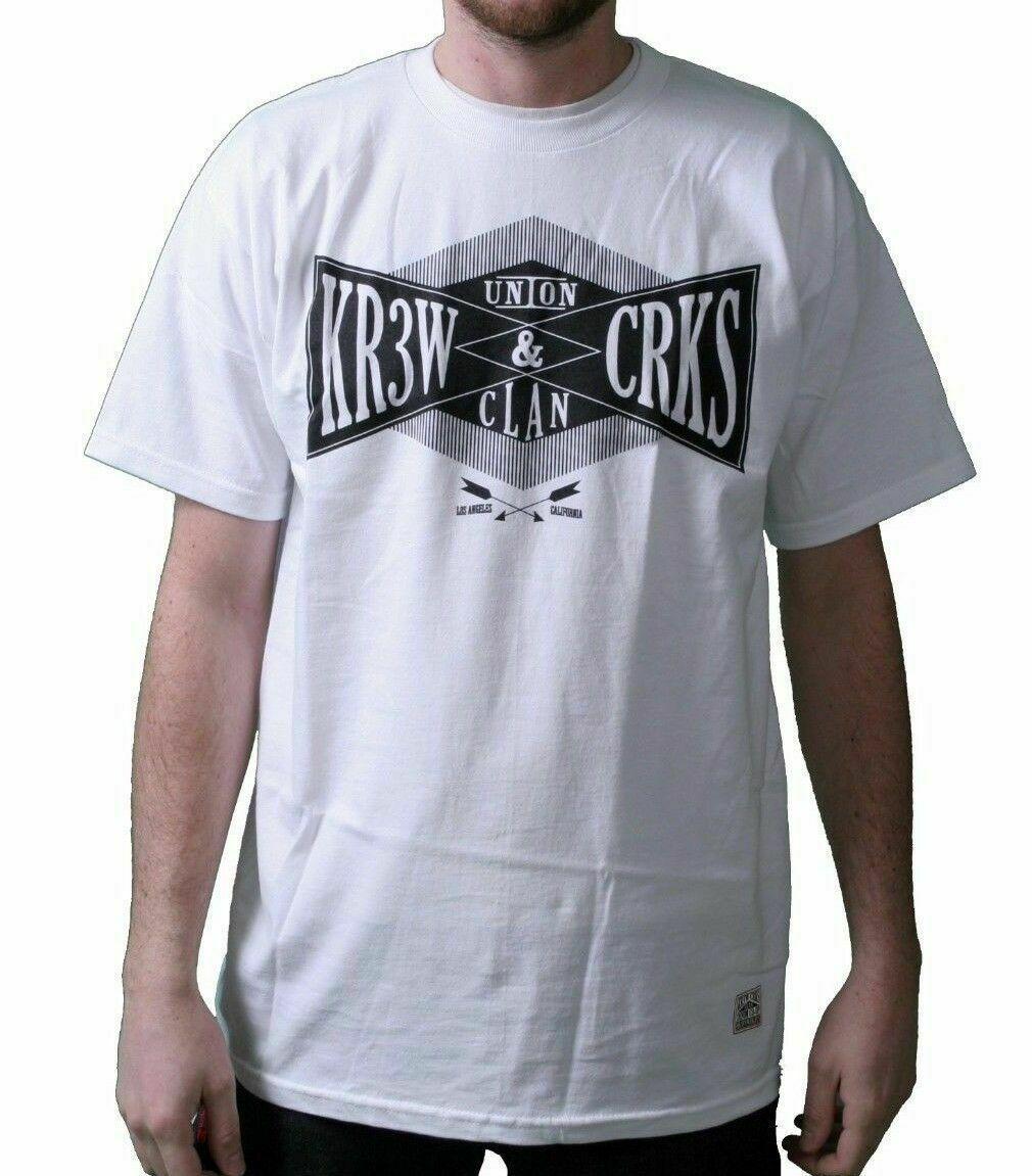 KR3W x Crooks & Castles Colab Union Clan White Medium T-Shirt NWT