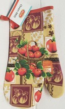 "Printed Kitchen 13"" Large Oven Mitt, APPLES BASKET, with red back, by Al... - $7.91"