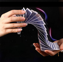 Waterfall Card Props Automatic Poker Magic Tricks Magic Electric Poker 4... - $25.99