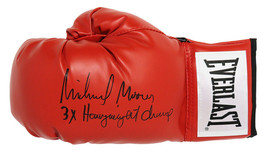 Michael Moorer Signed Everlast Red Boxing Glove w/3x Heavyweight Champ -SCHWARTZ - $98.01