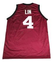 Jeremy Lin #4 Harvard New Men Basketball Jersey Maroon Any Size image 4
