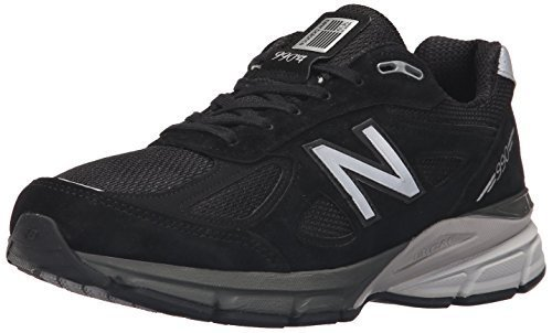 New Balance Men's M990BK4 Running Shoe, Black/Silver, 11.5 D US