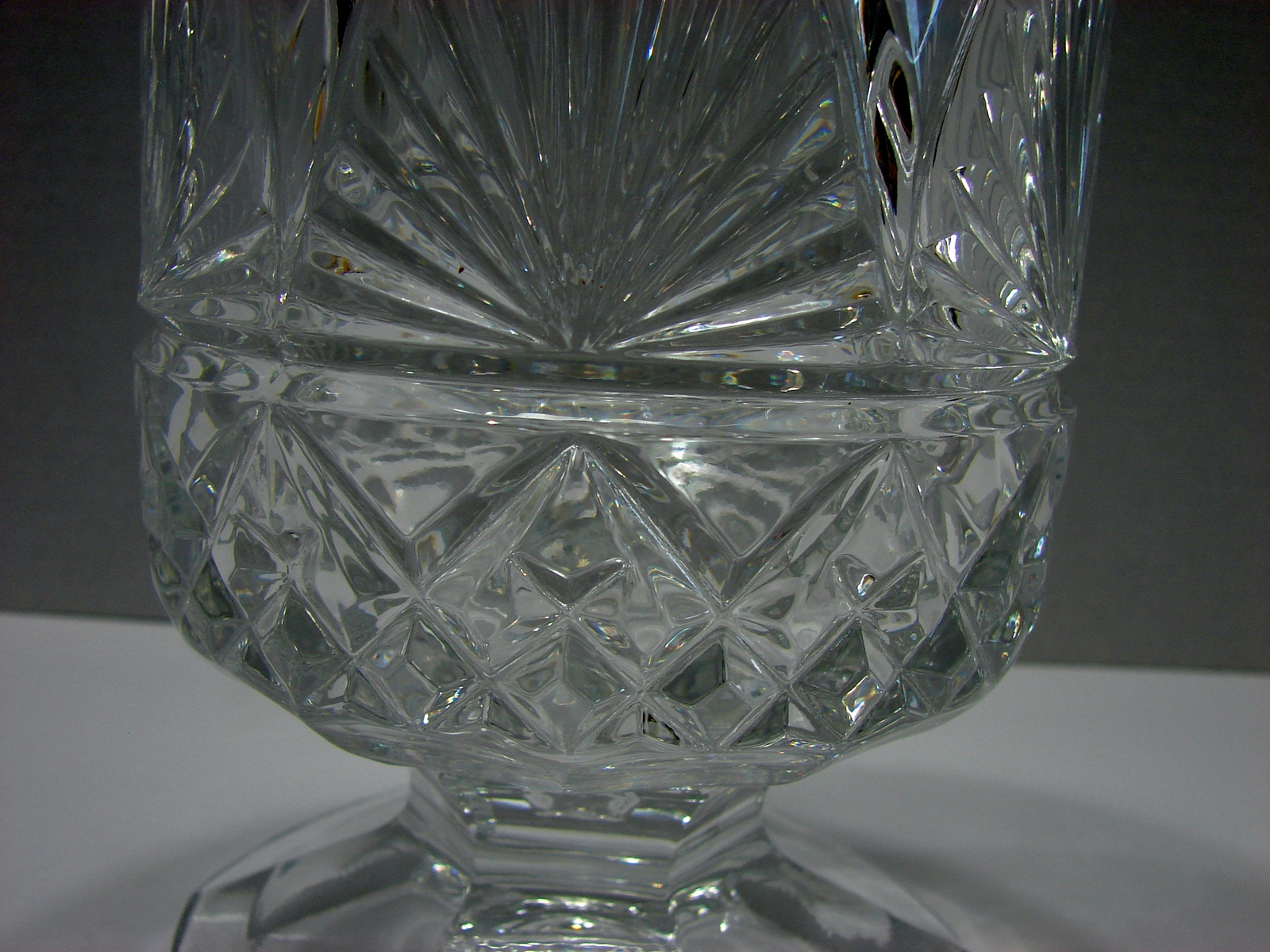 "Shannon Crystal Hurricane Taper Candle Holder 8 3/4 ""~ From Poland"
