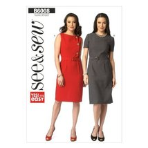 Butterick Patterns B60080A0 Misses' Dress and Belt Sewing Template, Size A (All  - $11.76
