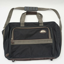 Samsonite Carry-On Shoulder Bag in Black Nylon w/Brown and Grey Accents.   - $38.69