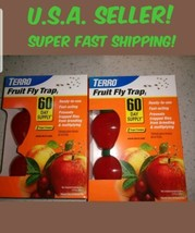TERRO FRUIT FLY TRAPS NON TOXIC TRAP  T2502 INSECT  2 PACKS OF 2 - $12.27