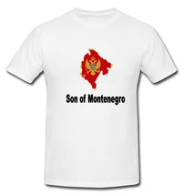 Son of Montenegro Montenegrin Flag Country T-shirt New White S, M, L, XL... - $20.00