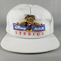 VTG 80s Disney MGM Studios Snapback Hat Gray Blue Red White Made in USA - $14.99