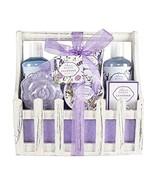 Bath Spa Basket Gift Set, with Lavender & Jasmine Scent, Home Spa Gift B... - $25.13