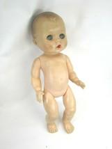 Vintage Squeaking Baby Doll Bottle Awake Asleep 50050 - $19.79