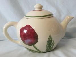 Hartstone Pottery Tulip Teapot 6 Cup size - $59.29