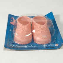 "vintage doll shoes pink 16""-17"" doll progressive baby bootie shoes for d... - $23.33"
