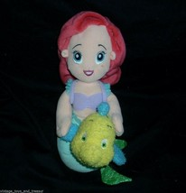 DISNEY 2002 FISHER PRICE LITTLE MERMAID ARIEL FLOUNDER STUFFED ANIMAL PL... - $23.38