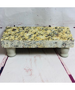 Granite Cheese Tray Board Beige Blk Brn Accent Driftwood Stained Legs CT012 - $55.00