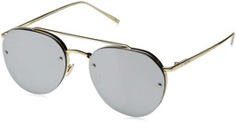PERVERSE Sunglasses Unisex Dean Glossy Gold/Silver Mirror One Size - $41.30