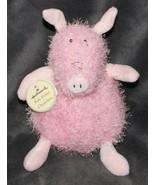 "Hallmark Roly Polies Pig Plush Stuffed Animal New NWT 6"" Shaggy Beans Pink - $48.50"