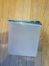 TUPPERWARE  CEREAL STORER eeper ~ Sheer & green 459 (used) - $4.94