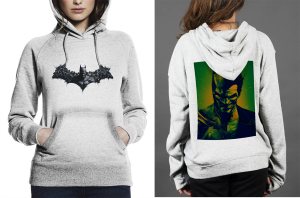 Batman arkham origins z hoodie  women white