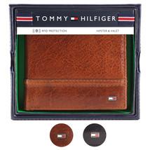 Tommy Hilfiger Men's Leather Wallet Hipster & Valet Billfold Rfid 31TL120002