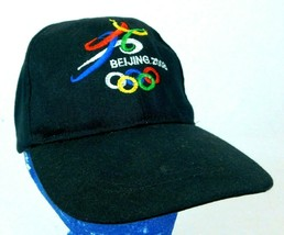 BEIJING 2008 Olympics Black Baseball Cap Hat Adjustable Strapback Box Ship - $11.99