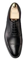 Handstitch men black Oxford shoes, Men black formal shoes, Men black dre... - $169.99