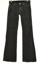 7 For All Mankind jeans 27 x 32 velveteen black slim bootcut USA - $39.59