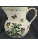 Studio Nova Garden Bloom Y2372 Beverage Pitcher Pansies Butterflies Bees - $39.95