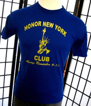 Honor New York Club Remember 911 Statue of Liberty blue tee shirt by JER... - $19.95